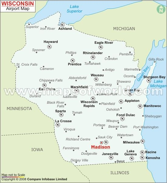 Airports In Wisconsin Map Airports in Wisconsin, Wisconsin Airports Map | Airport map