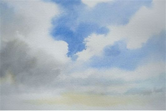How To Paint Wet In Wet Watercolour Skies Watercolor Sky Sky