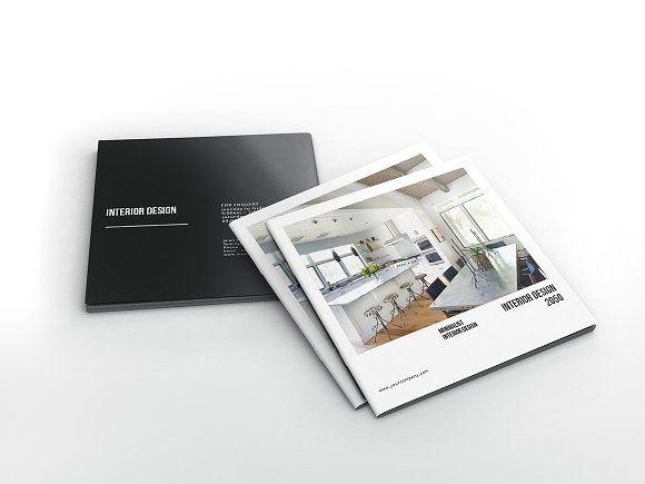 Interior Design Square Brochure by GiantDesign on @creativemarket - interior design brochure template