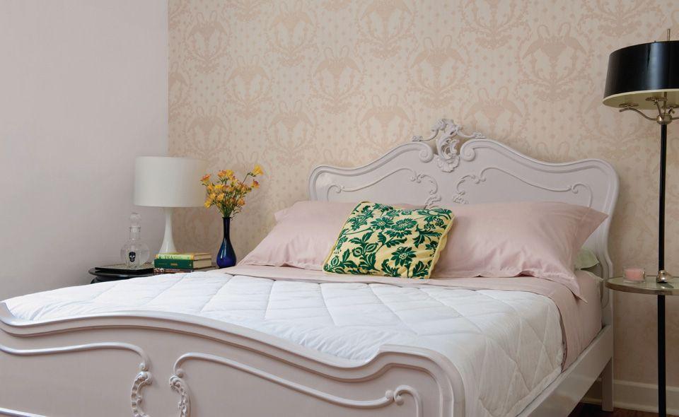 41 quartos de casal com decoração neutra  Decoração neutra, Almofadas verdes