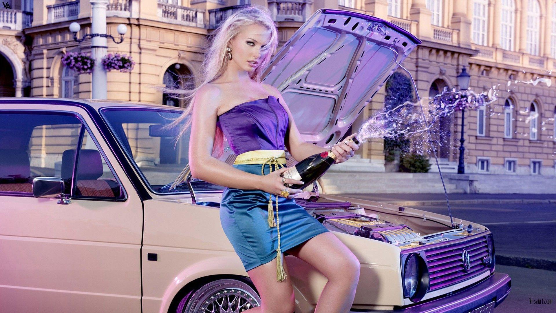 women cars Mandy Lange - Wallpaper