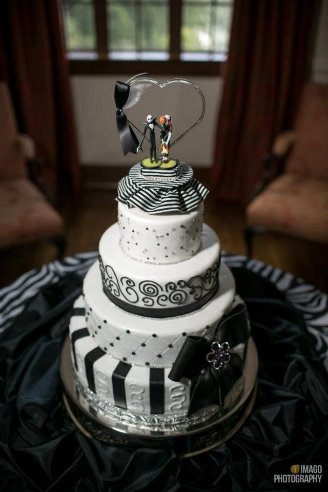 Jack and Sally Halloween Wedding Cake Topper