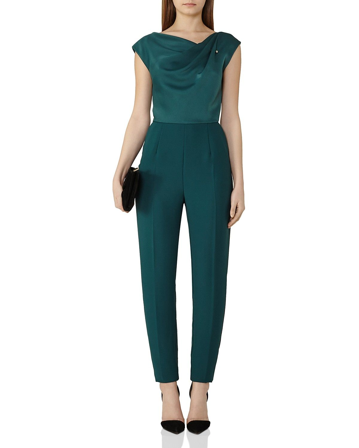 3dd4024f146 REISS Frenchie Draped-Bodice Jumpsuit