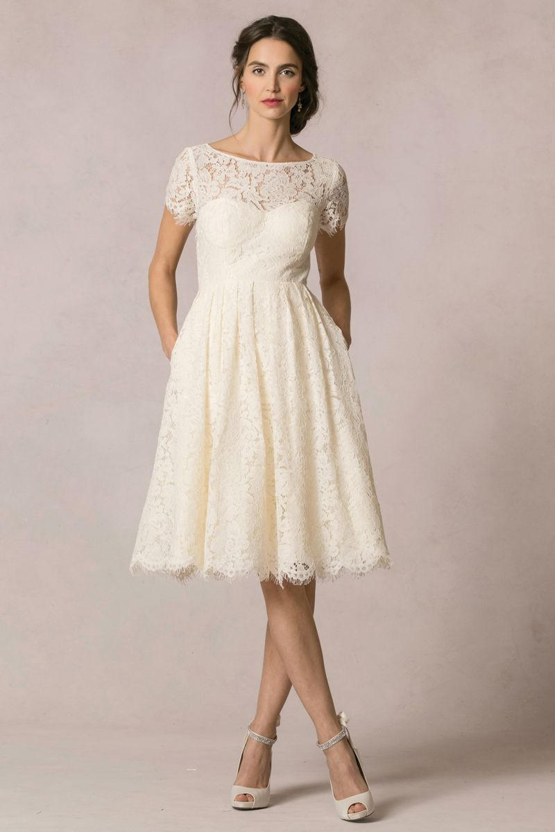 short casual short white dress for wedding