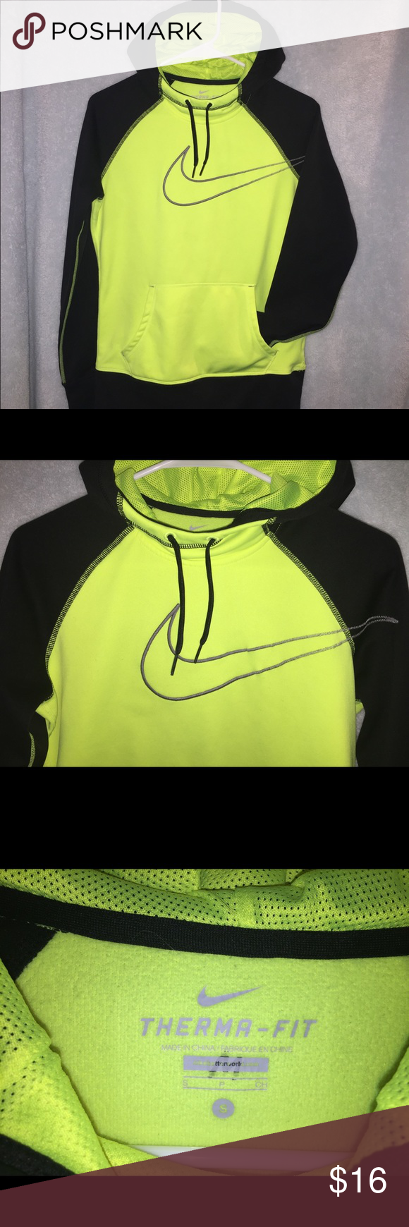 Nike hoodie size small Nike hoodie with cowl neck and thumb holes. In great condition! Size small. Get ready for fall in style! Nike Tops Sweatshirts & Hoodies