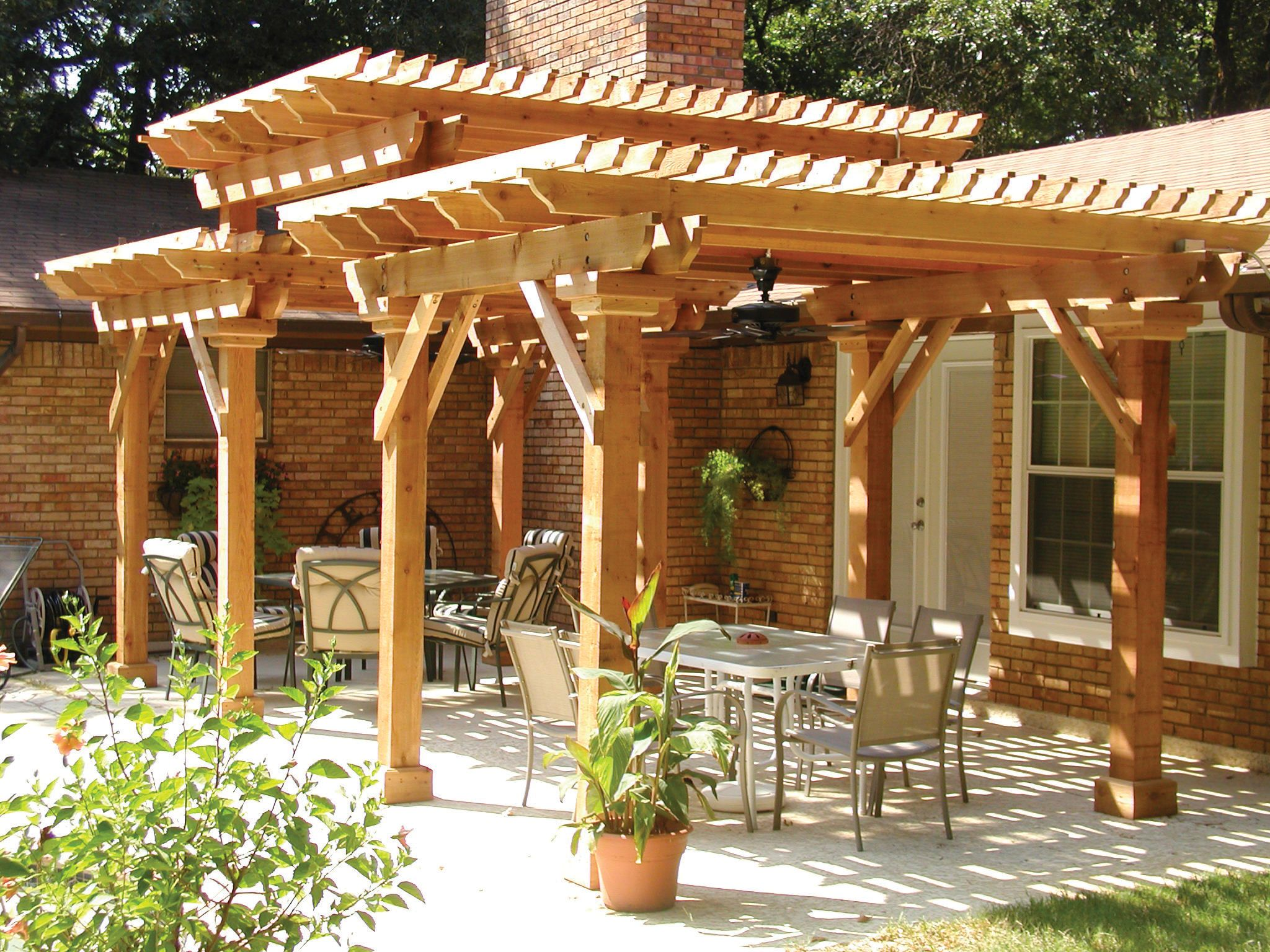 With Dimension And Depth This Fabulous Pergola Design Not Only