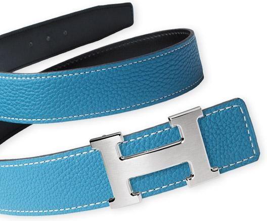 Blue Hermes Belts