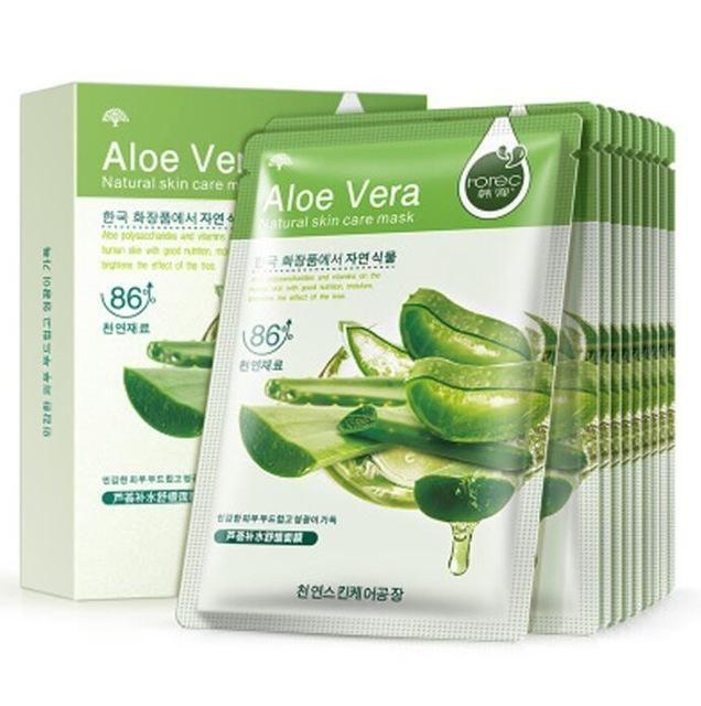 Bioaqua 10pcs Aloe Vera Sensitive Skin Soft And Blueberry Moisture Replenishment Olive Red Pomegranate Korean Cosmetics Face