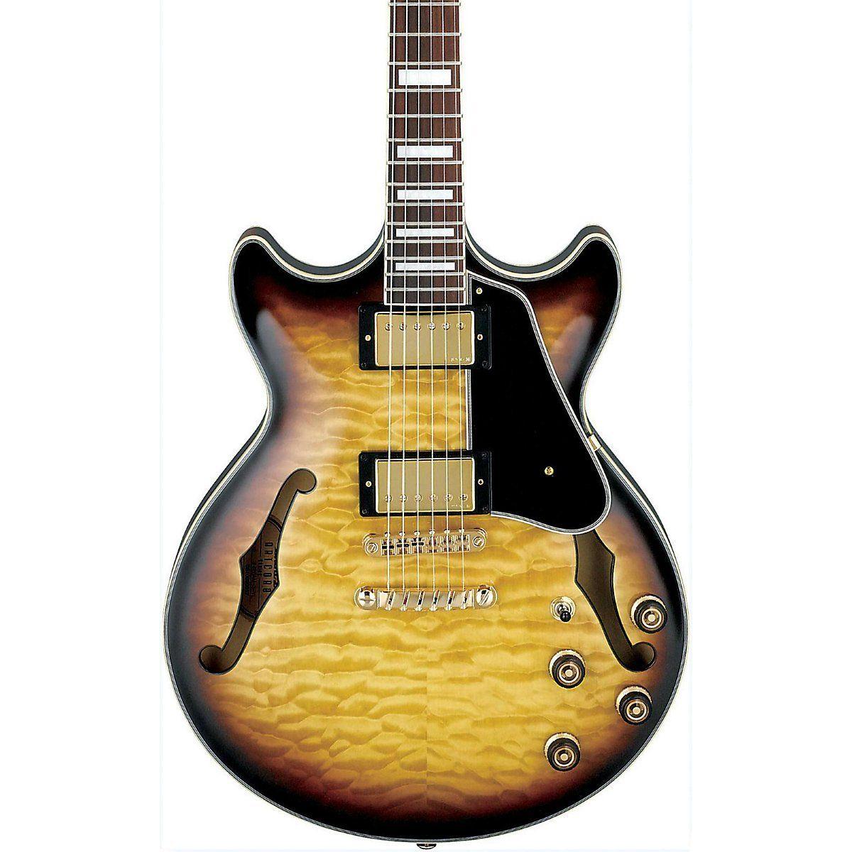 Amazon Com Ibanez Am93ays Artcore Expressionist Semi Hollow Electric Guitar Yellow Sunburst Musical Instruments Electric Guitar Guitar Artcore