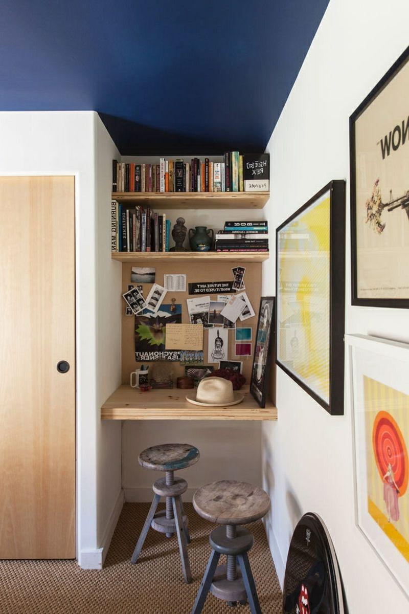 Schreibtisch Nische Möbel Platzsparend