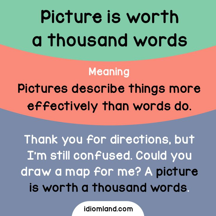 what has only two words but thousands of letters idiom of the day picture is worth a thousand words 802