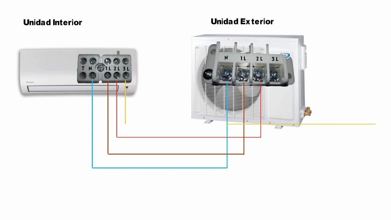 Como Conectar Aire Frio Calor Parte Electrica Mejorado Conexiones Electricas Instalación Electrica Electrica