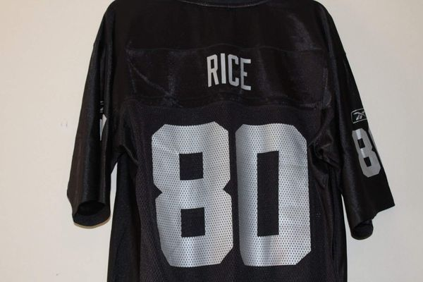 superior quality 6d3dc cbd1f Jerry Rice #80 Oakland Raiders Jersey Reebok (Medium ...
