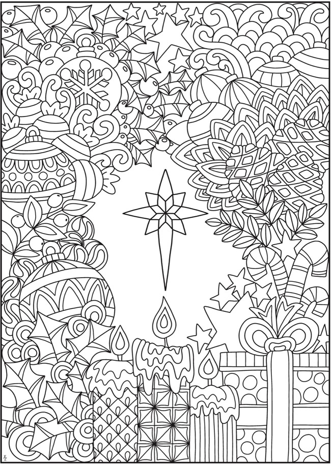 hard christmas colouring pages - Clip Art Library | 914x650