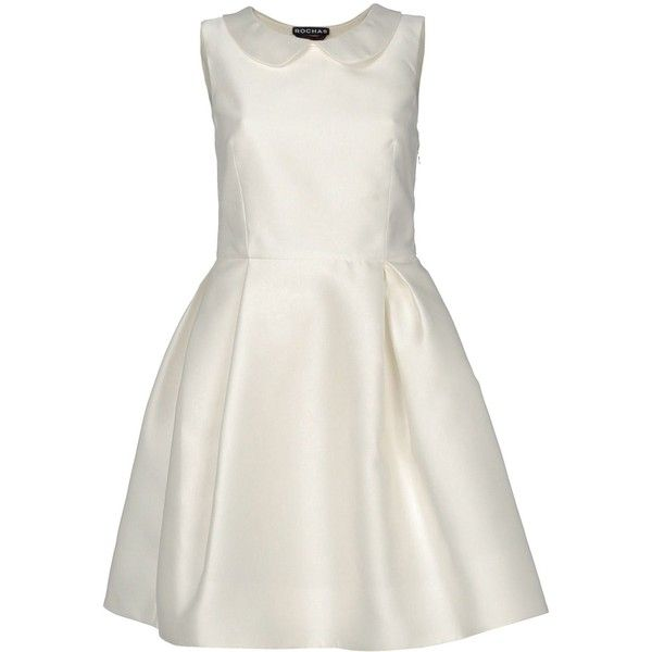 ROCHAS Short dress (3.615 BRL) ❤ liked on Polyvore featuring dresses, robes, rochas, no sleeve dress, short sleeveless dress, sleeveless dress, zip dress and zipper dress