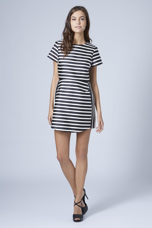 Satin stripe aline dress fashion essentials pinterest fashion