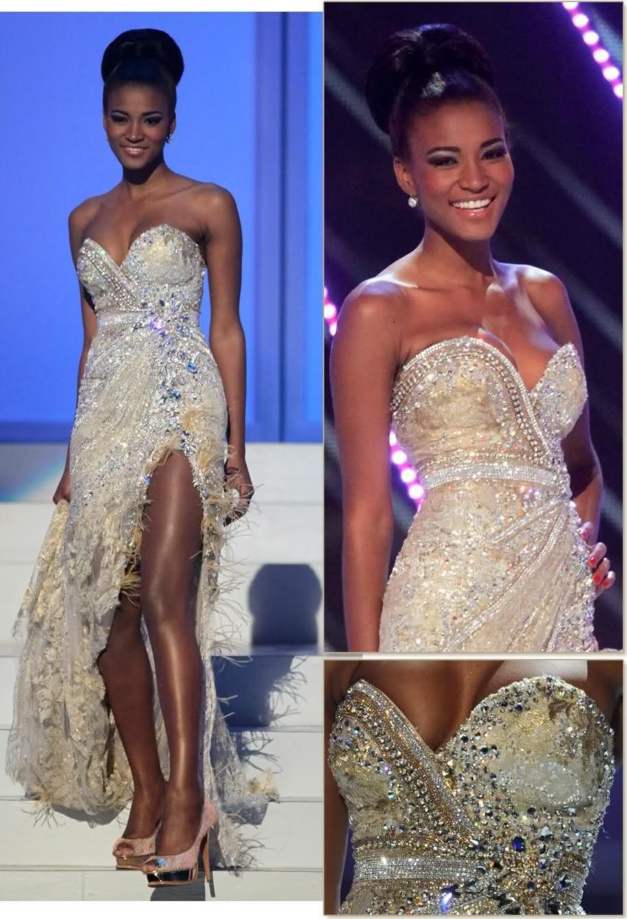 Leila lopes wearing alexandre dutra beautiful black women