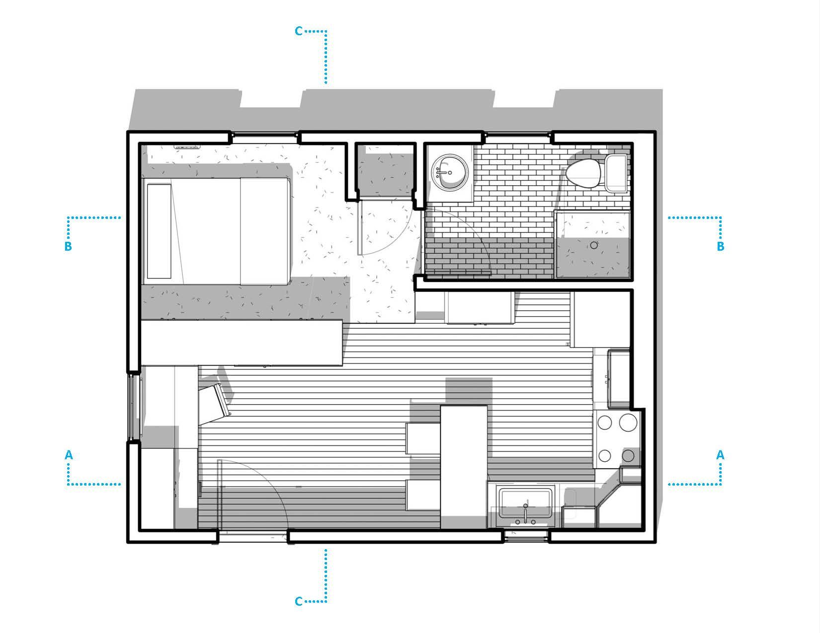 300 Sq Ft Apartment Layout Mulberry 300 Sq Ft Studio Apartment Honorable Mention Studio Apartment Floor Plans Apartment Floor Plans Apartment Layout