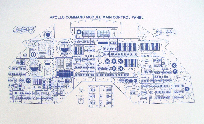 Apollo command module blueprint blueprintplace on etsy diagrams apollo command module blueprint blueprintplace on etsy malvernweather Image collections