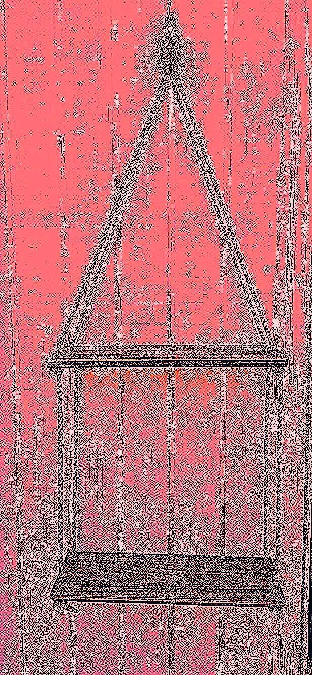 : DIY Rustic Home Decor in Reclaimed Wood : 2 Tier Floating Shelf - Rope Shelf - Suspended Shelf - Double wood shelves -Hanging swing shelf - Hemp Rope- Recycled Wood - Housewarming gift - Minimalist bedroom - boho decor - bohemian bedroom- yoga decor - ecofriendly #giftidea #reclaimedwood #woodworking #homedecor #rustic