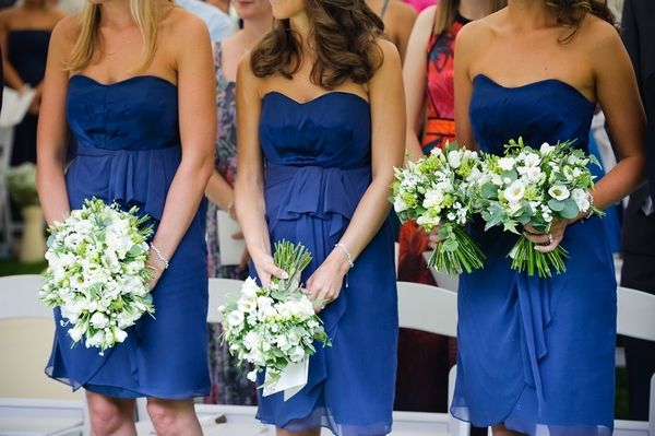 Bridesmaids bouquet flowers - Rustic theme wedding at Lains Barn, Wantage - flowers & decor by Seventh Heaven Events #seventhheavenevents
