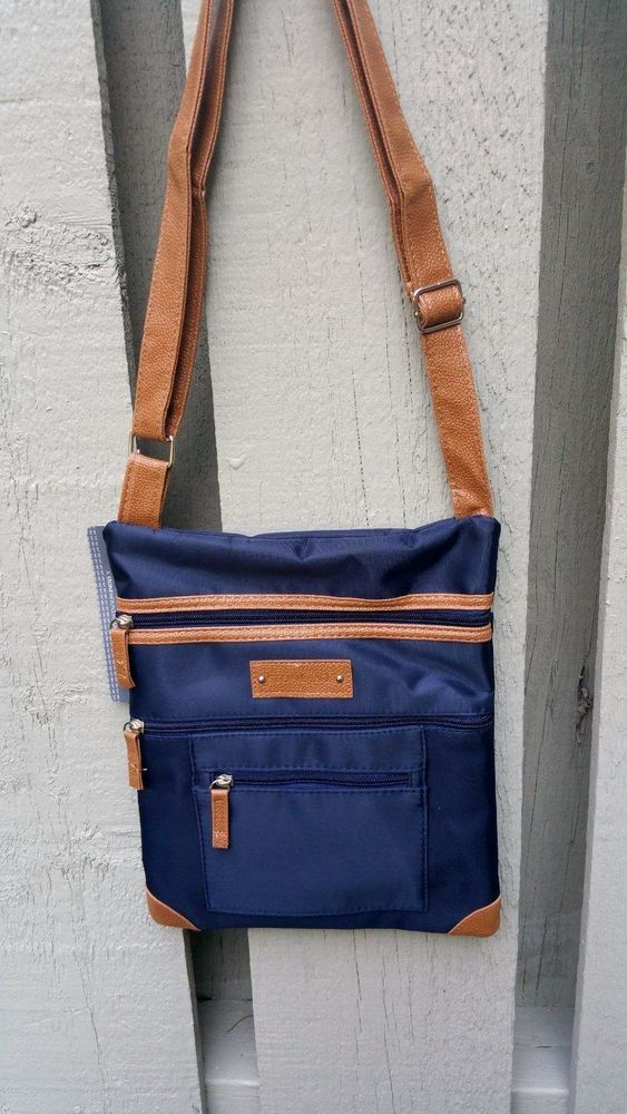 Stone Mountain NY Crossbody Handbag Purse Travel Navy NEW  StoneMountainNY   MessengerCrossBody 125830ffa0