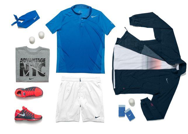 Nike S Us Open Tennis Championships Kit For Roger Federer Tennis Fashion Atp Tennis Clothes Mens Tennis Tennis Fashion