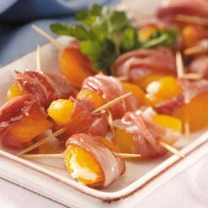 Prosciutto-Wrapped Apricots Recipe | Taste of Home