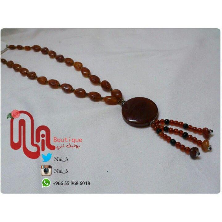 عقد عقيق بطول شبرين 25 ريال Chains Necklaces Beaded Bracelets Jewelry