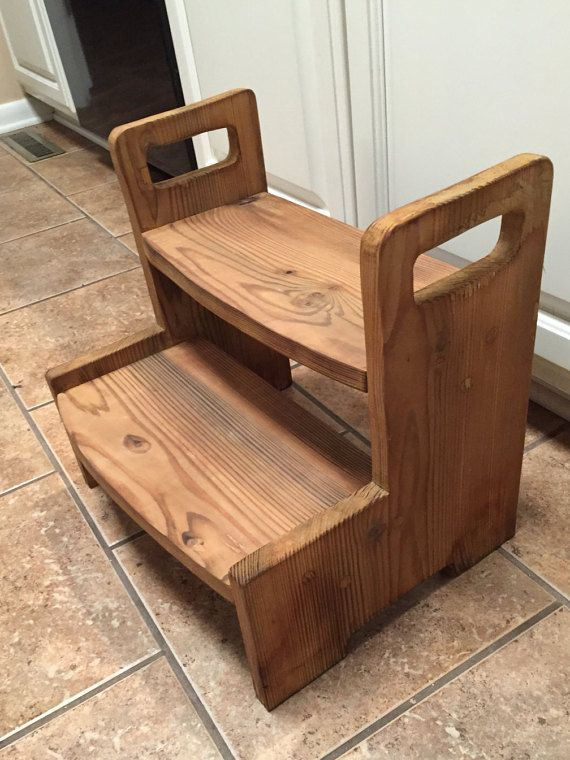 Kids Wooden 2 Step Stool All Natural Apple Cider By