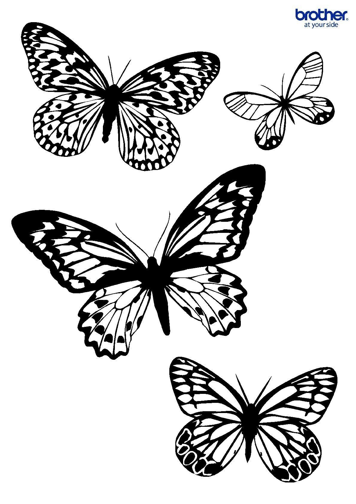 Mariposas   Dibujo   Pinterest   Mariposas, Vinilos habitacion y Vinilos