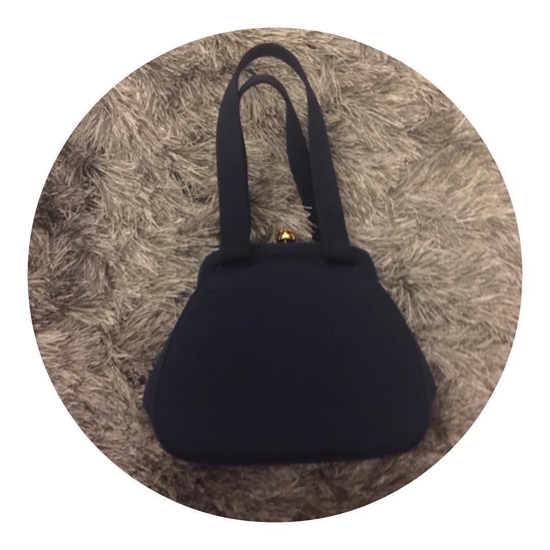 dd56b9687d2c F L A S H S A L E Vintage Chanel navy top handle evening bag 24 kt gold  hardware with engraved Chanel logo