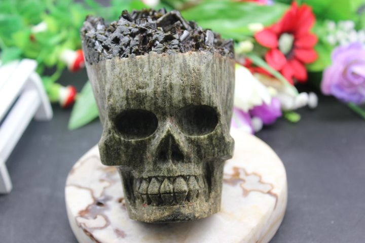 >> Click to Buy << 978 grams of natural quartz crystal tourmaline skull to heal #Affiliate