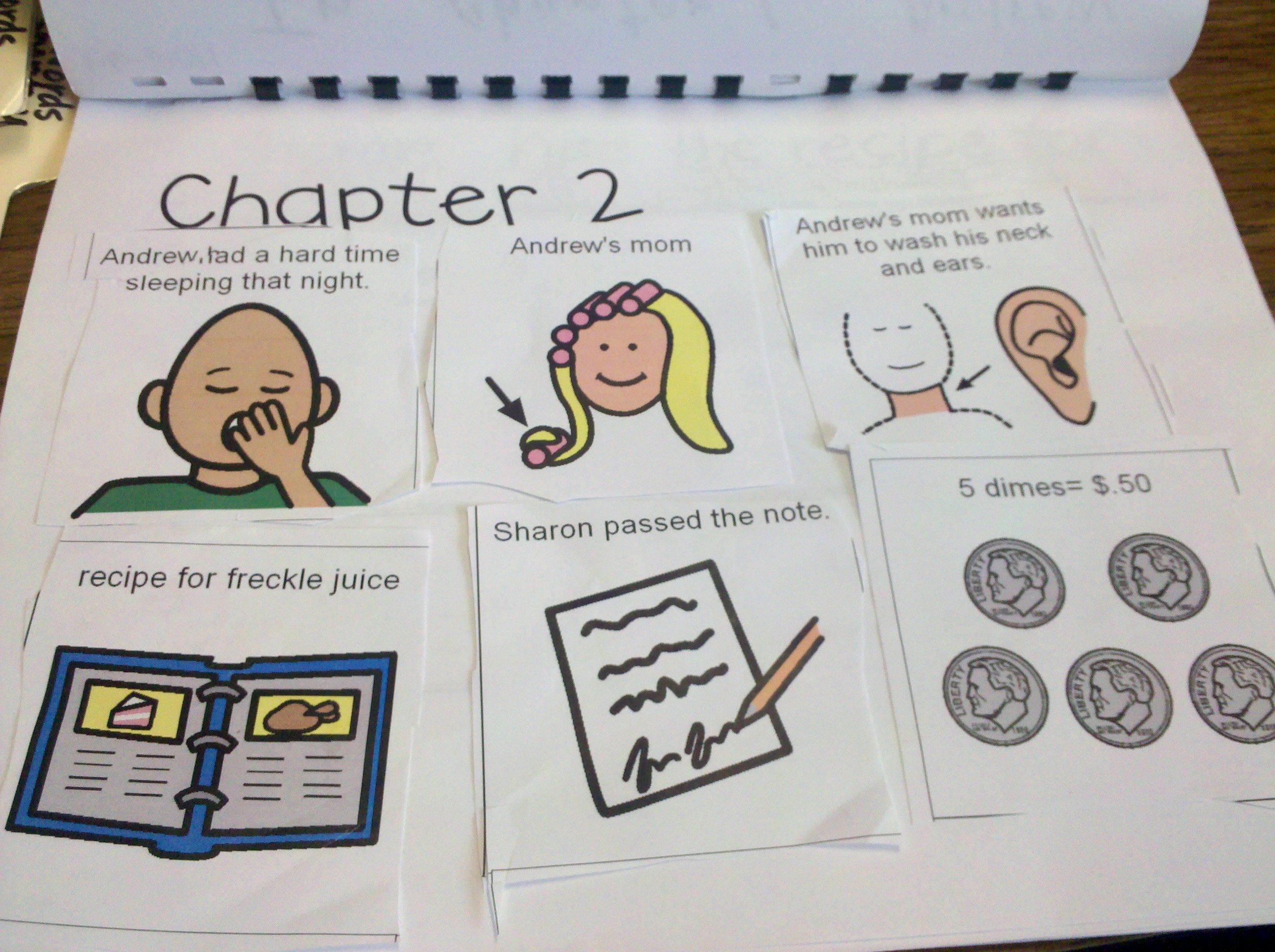 Working On Reading Comprehension With Students With Apraxia Or Any Non Verbal Students