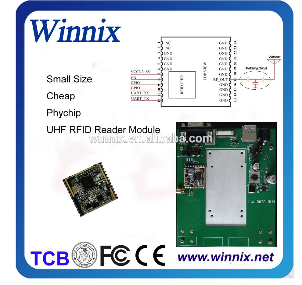 1 port gpio uhf rfid card reader and writer module kit for