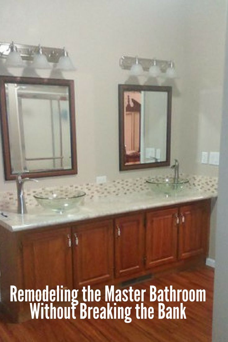 Remodeling The Master Bathroom Without Breaking The Bank   Mobile Home Living   Bathroom remodel ...