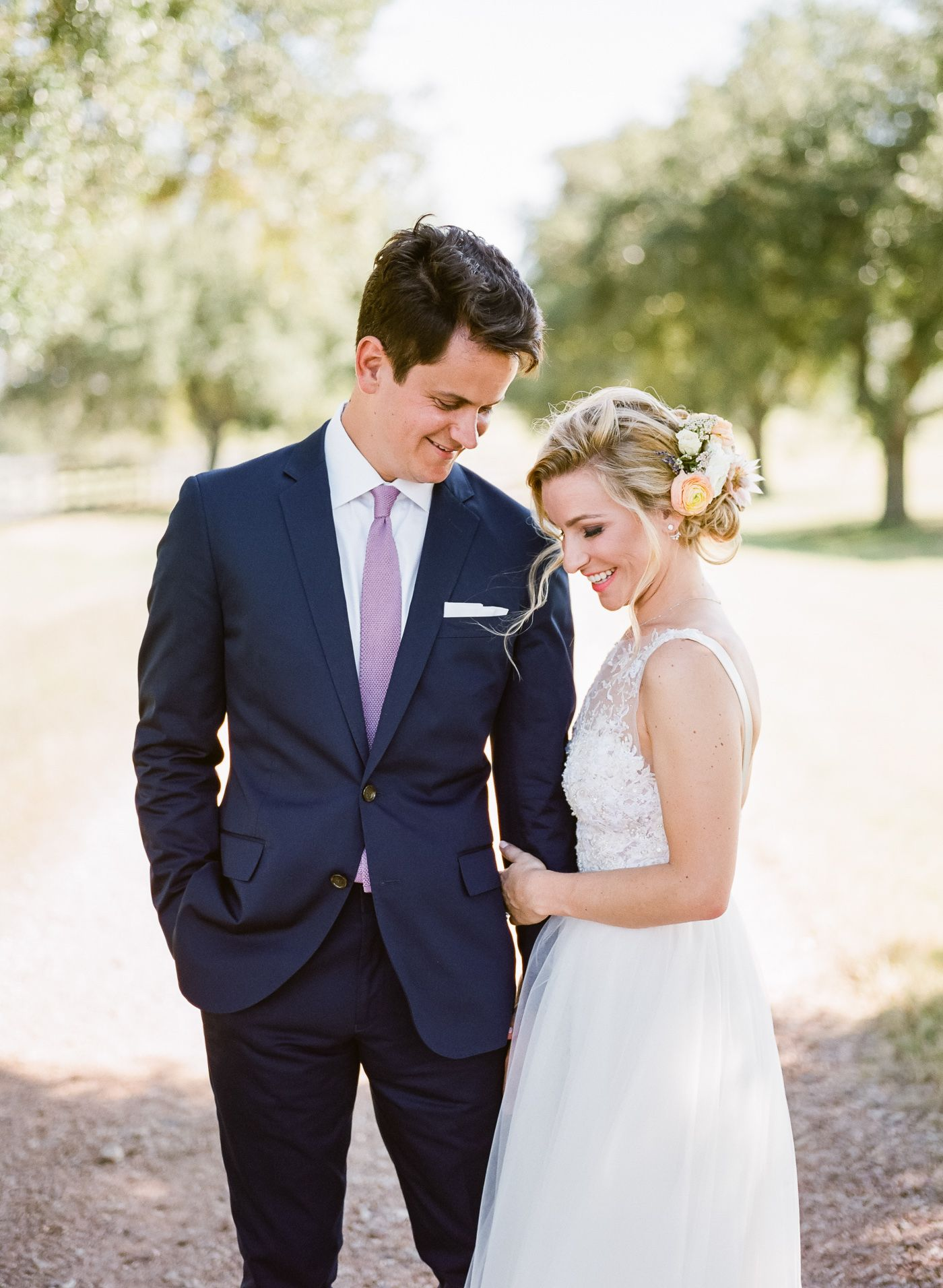 Wedding dresses with purple accents  Boho Lux Wedding Featured on MarthaWeddings  Photography by