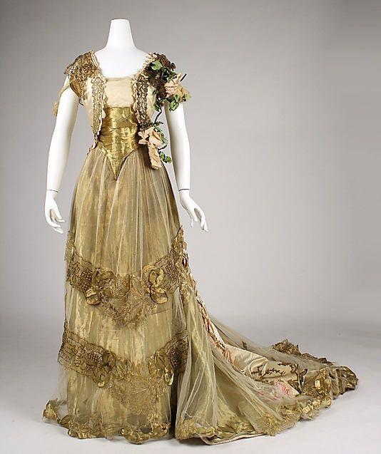 Dress (Ball Gown) Driscoll Date: Ca. 1900 By Valerian