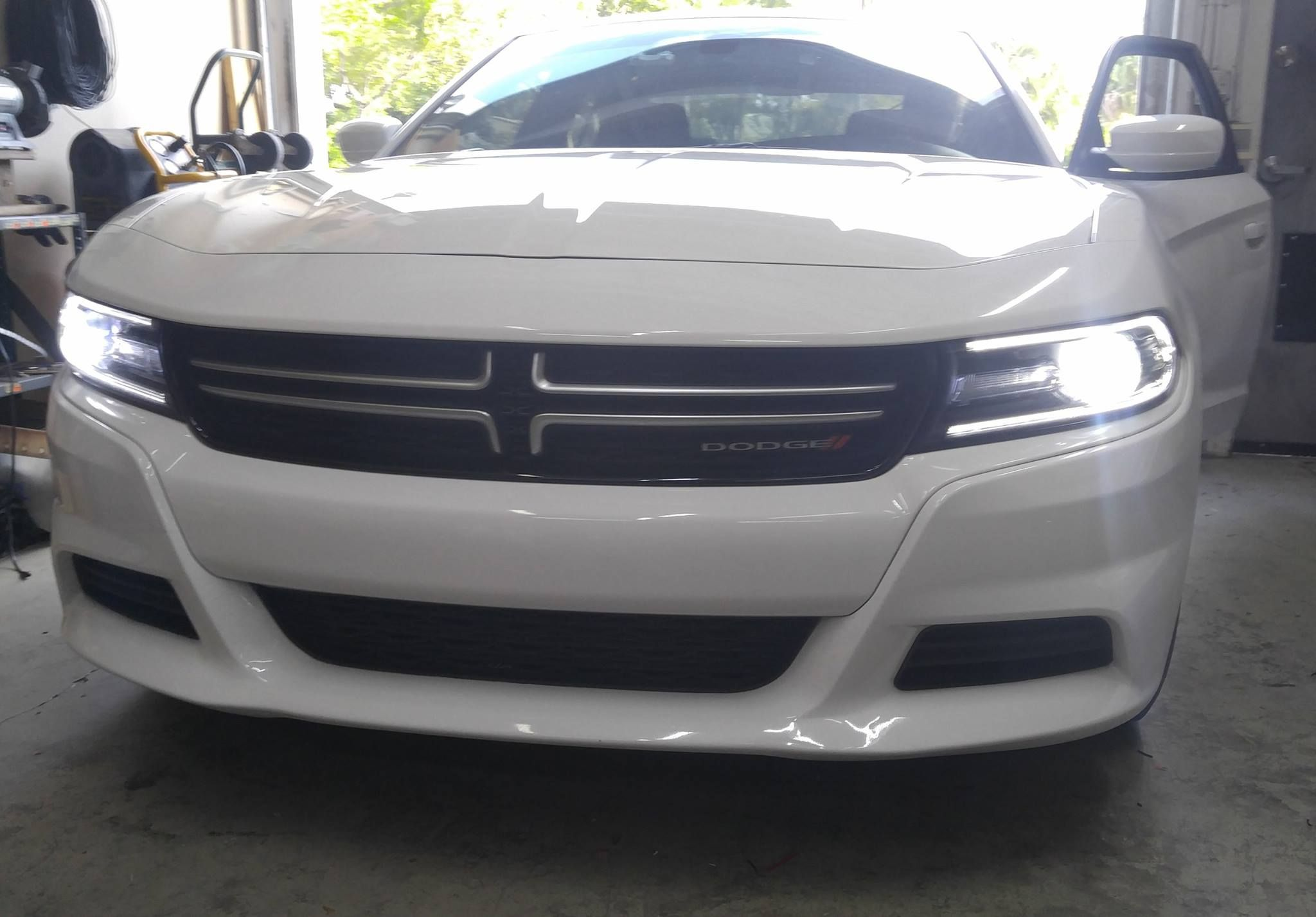 Shop Work Installed Two Of Our 9005 Led Headlight Bulbs On This 2015 Dodge Charger 2015 Dodge Charger Charger Accessories Motorcycle Led Lighting