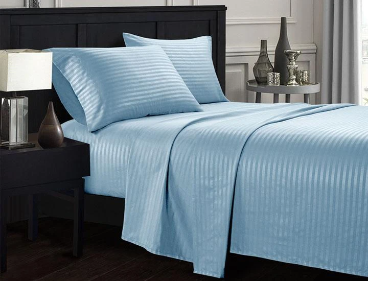 Daily Deal Bed Sheets Brushed Microfiber Dobby Striped Sheets – UntilGone.com