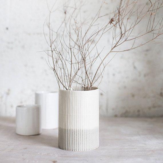 Items similar to Ceramic Vase, Flower Vase, Pottery Vase, Black and White vase, Ceramic Flower Pot, Modern Vase Flower, Christmas Gift on Etsy