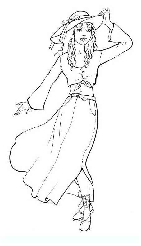 fashion_6 Teens and adults coloring pages | Coloring pages for ...