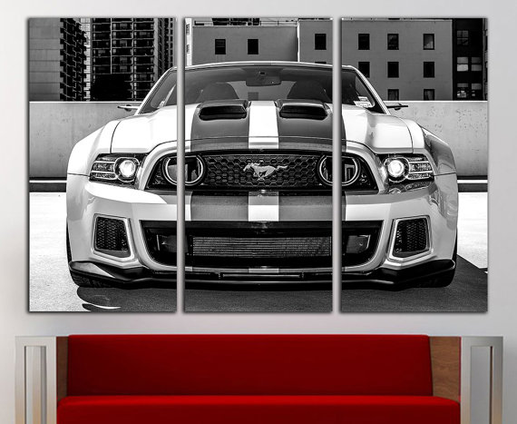 Ford Mustang Gt Canvas Ford Mustang Gt Print Ford Mustang Wall Art Ford Mustang Wall Decor Sportcar Wall Art Canv Car Wall Art Sports Wall Art Car Themed Rooms