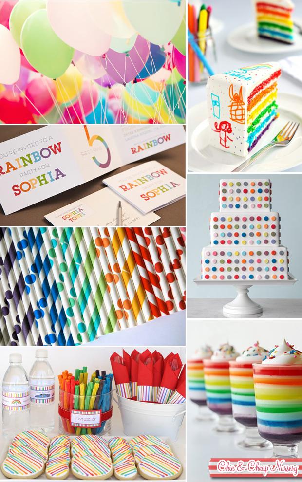 Rainbow Party Ideas Inspiration Chic Nursery