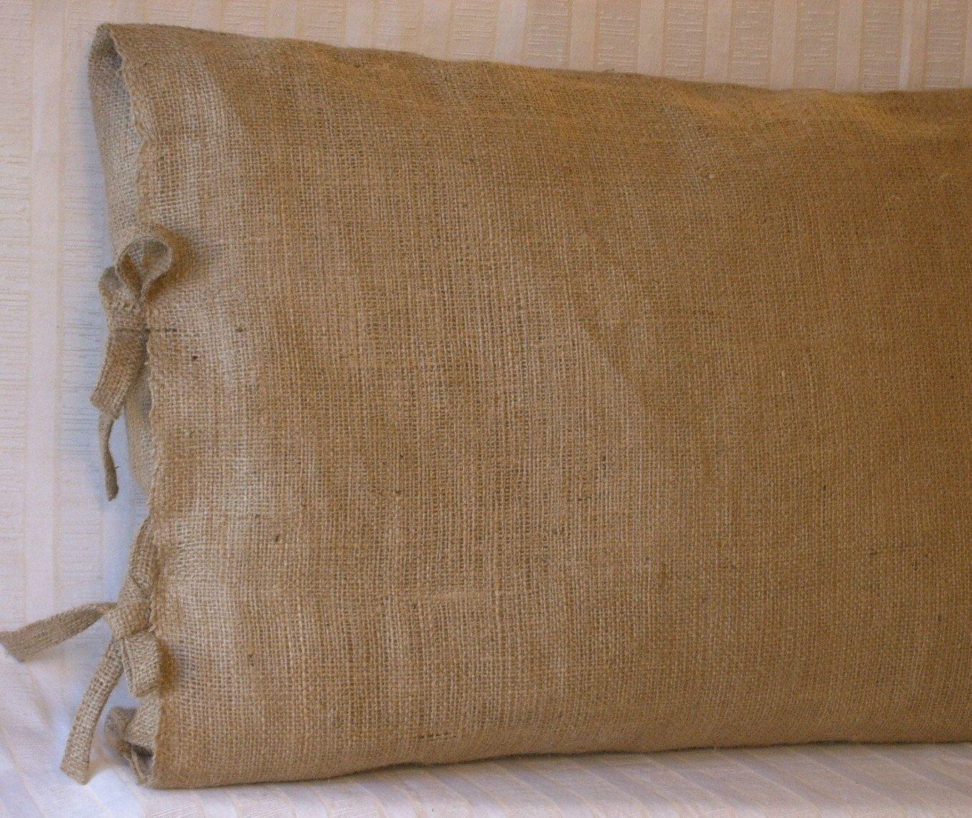 Standard Queen Burlap Pillow Sham With Tie Closure 26 X 20 Lined 32 00 Via Etsy Decoracion Hogar Decoracion De Unas Hogar