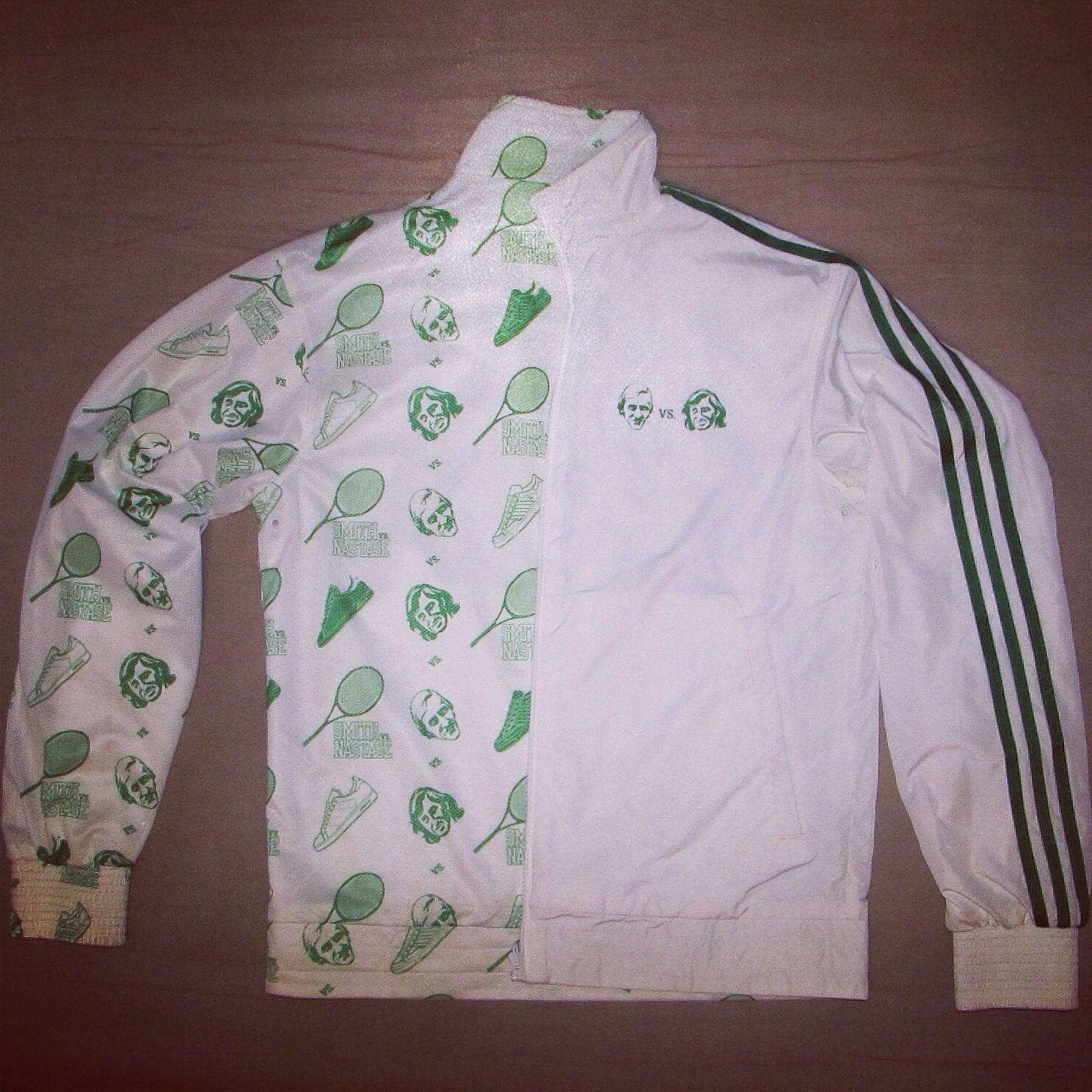 on feet at sale retailer look for 40. adidas reversible jacket