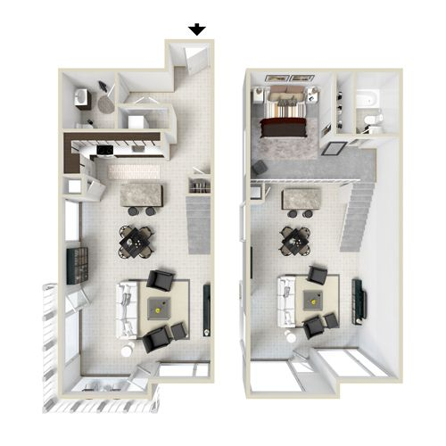 Studio and 1 Bedroom Apartment Floor Plans | The Lofts on ...