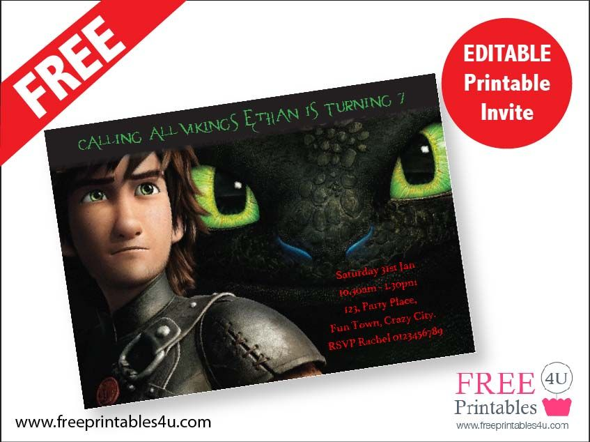 How To Train Your Dragon Free Printables 4 U Dragon Birthday Parties How Train Your Dragon Dragon Party Invitations