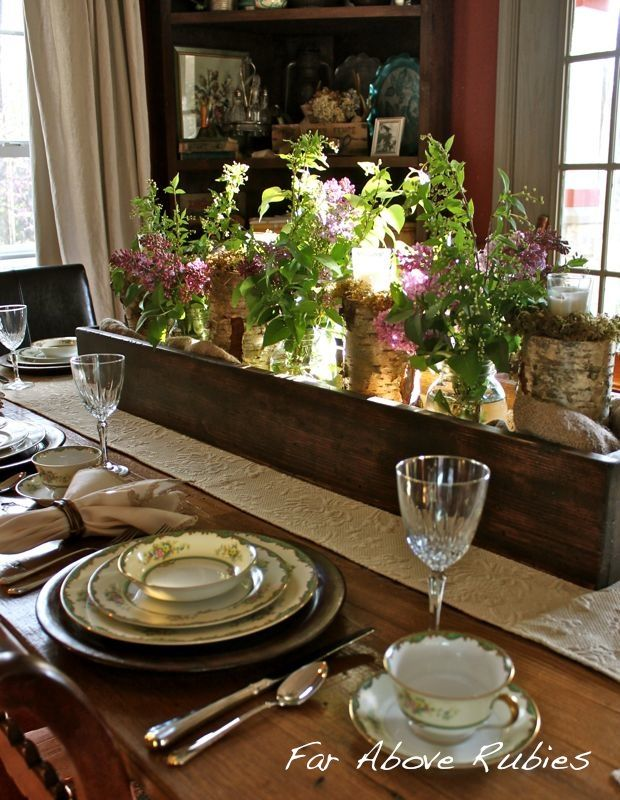17 Ways To Use A Long Box As A Centerpiece Wood Box Centerpiece