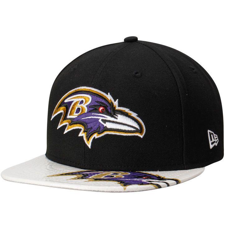 Baltimore Ravens New Era Dub Logo 9FIFTY Adjustable Hat - Black/White - $29.99